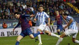 El Málaga es goleado en casa ante el Barcelona (1-4). / Reuters