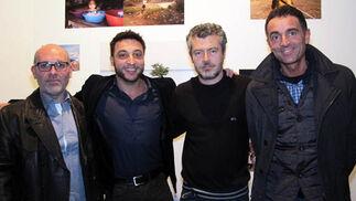 Los fotógrafos Israel Caballero, Eduardo D´Acosta, Lucas Gómez y Dionisio González.  Foto: Victoria Ramírez