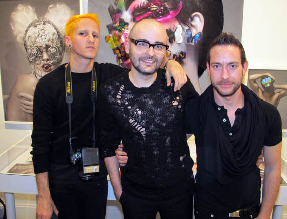 Los fotógrafos Jorge Algaba, Paco Peregrín y Fernando Bayona.  Foto: Victoria Ramírez