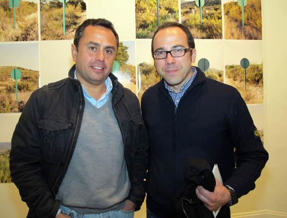 Los pintores Ricardo Suárez y Óscar Ortiz Marzo.  Foto: Victoria Ramírez