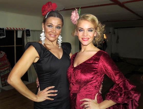 Las bailaoras Lalo Tejada y Jessica Brea.  Foto: Victoria Ramírez