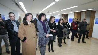 Parte del público asistente a la presentación de la muestra.  Foto: PASCUAL