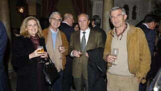 María Jesús Román, el magistrado Manuel Grosso, Manuel Romero y Agustín Grosso.  Foto: Joaquín Hernández Kiki