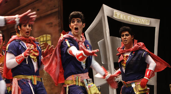 Comparsa Los superhéroes  Foto: Lourdes de Vicente