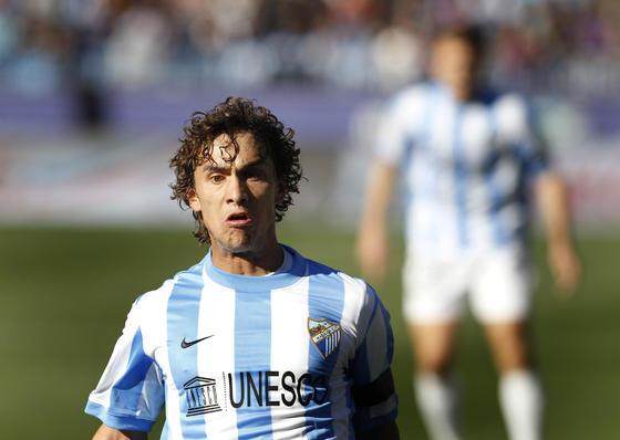 El delantero del Málaga, Sebas Fernández  Foto: Sergio Camacho