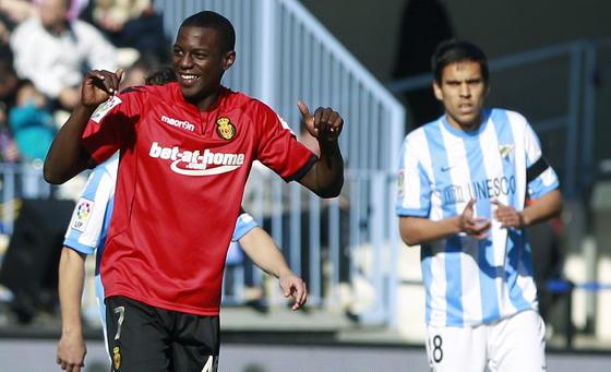 Pereira celebra su gol ante el Málaga  Foto: Jorge Zapata. EFE