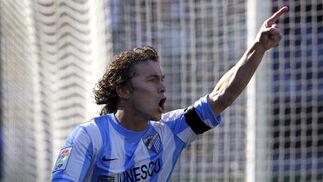 Sebas Fernández celebra su gol  Foto: Sergio Camacho