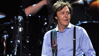 Paul McCartney durante su actuación en la gala. / AFP