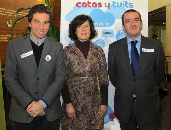 José Manuel Escrig, director adjunto de Asemesa; Paqui Carvajal (EOI) y Antonio Requena (Novasoft).  Foto: Victoria Ramírez