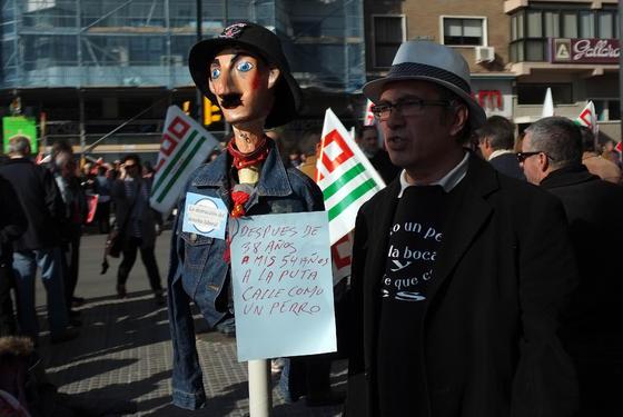 Miles de malagueños se echan a la calle para protestar contra la reforma laboral  Foto: Migue Fernandez