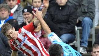 El Athletic sentenció el partido marcando tres goles relámpago al Málaga en apenas tres minutos  Foto: Miguel Tona, Efe