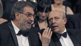 González Macho charlando con el ministro Wert  Foto: EFE