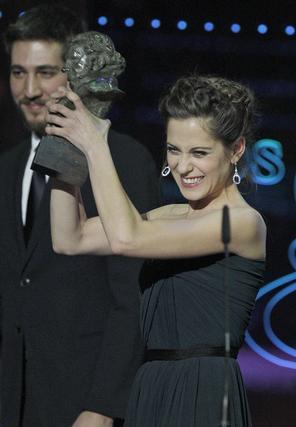 María León recoge su Goya a mejor actriz revelación  Foto: EFE