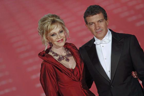 Melanie Griffith junto a su marido Antonio Banderas.  Foto: EFE