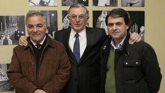 Antonio Pérez, Jesús Martín Cartaya y José Ignacio Velasco.  Foto: Juan Carlos Muñoz