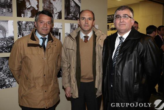 Los macarenos Pedro García, Pedro Bohórquez y Antonio García.  Foto: Juan Carlos Muñoz
