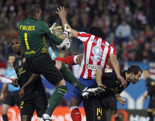Las imágenes del Atlético- Barcelona