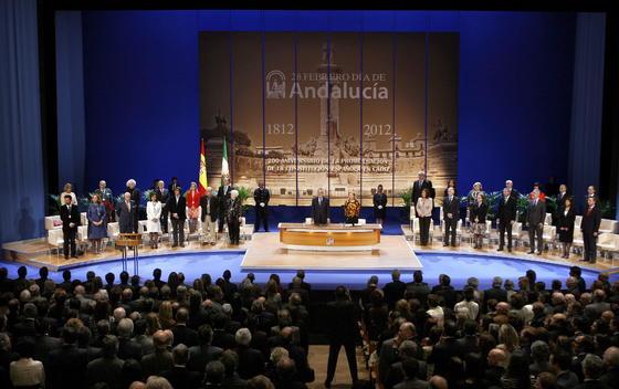 Aspecto en los momentos finales del acto.  Foto: Antonio Pizarro