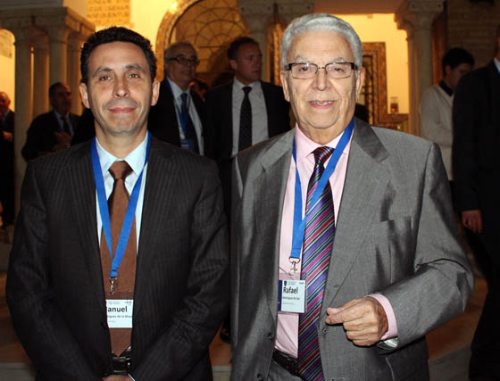 Manuel Domínguez de la Maza (director comercial) y Rafael Domínguez de Gor (presidente) de Grupo Mayoral.  Foto: Victoria Ramírez