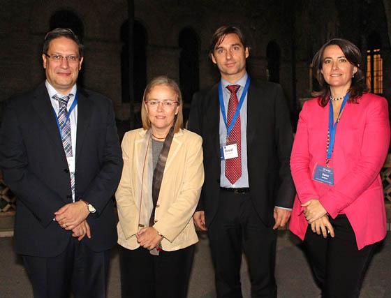 Antonio Rébola, director general de Panishop; Araceli Císcar y David Pérez Carrera, de Grupo Dacsa, y Gema Jiménez (Instituto Internacional San Telmo).  Foto: Victoria Ramírez