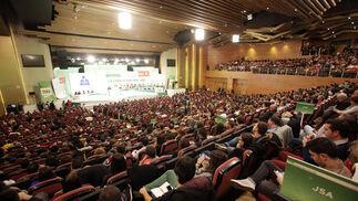 Aspecto del salón donde se celebra el congreso del PSOE andaluz.  Foto: L. Rivas