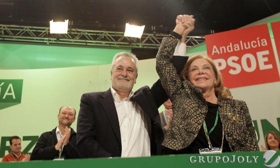 Griñán con Amparo Rubiales.  Foto: L. Rivas
