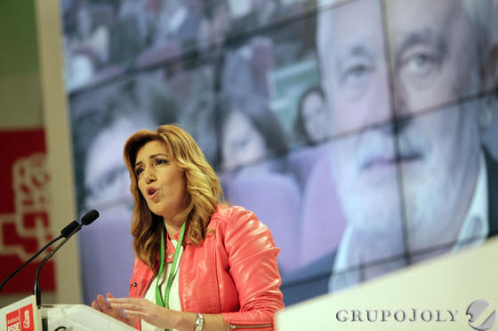 Susana Díaz habla en el Congreso del PSOE-A.  Foto: L. Rivas