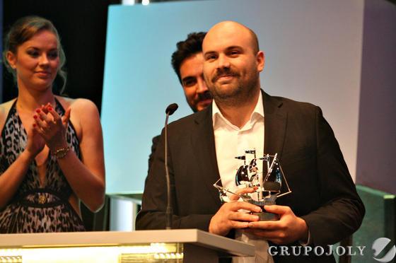 El chileno Moisés Sepúlveda, Carabela de Plata al mejor director novel.  Foto: A.Dominguez/J.Correa