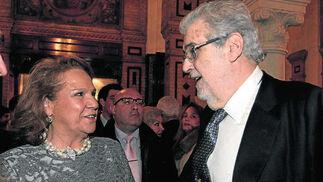 Con Concha Yoldi, presidenta de la Fundación Persan, en 2013./ Antonio Pizarro