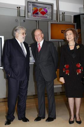 José Manuel Lara Bosch y los Reyes de España, en el acto del XX Aniversario de Antena 3.