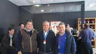 Antonio Montero , Manolo Robredo y Antonio Real.  Foto: Ignacio Casas de Cirio