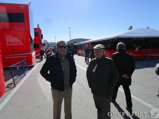 Los hermanos  Juan Pablo y José Luis Lacave Gómez, en el trazado.  Foto: Ignacio Casas de Cirio