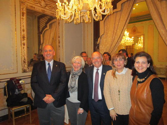 Jesús Núñez, Mamen Bensusan, Jaime Rocha, Ana María Fimia y Marisa Villén.