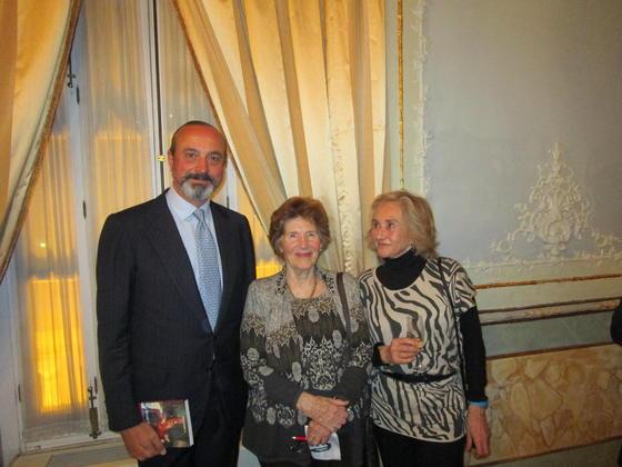 José Ramón Fernández de Mesa, Mica Valdés y la marquesa de Santo Floro.