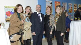Isabel Acedo, María del Mar Martínez, Juan Carlos Campo, la fiscal antidroga Ana Villagómez y Susana Jiménez. / Joaquín Hernández 'Kiki'