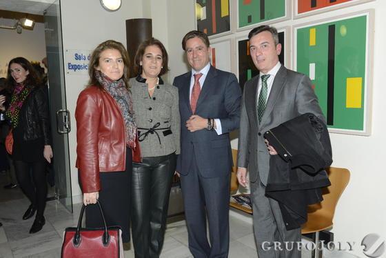 María de los Ángeles Rodríguez, Marta Dodero, Manuel Estrella y el rector de la Universidad de Cádiz, Eduardo González Mazo. / Joaquín Hernández 'Kiki'