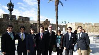Juan, Curro y Álvaro Fernández-Daza, Pedro Parias, Pablo Román, Paloma Fernández-Daza, Enrique Parias y Álvaro Barbosa.