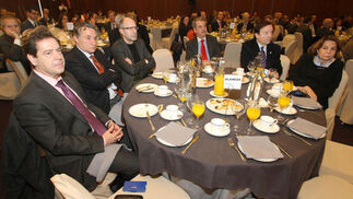 Carmelo Martín Alcaide, Federico Alarcón Herrera, Marco Antonio Blanco Leiria, José Atalaya, Luis Fernández Arévalo y Pilar Sepúlveda.  Foto: Belén Vargas/Juan Carlos Vázquez