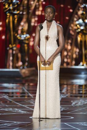 La oscarizada actris Lupita Nyong'o durante la gala.  Foto: EFE