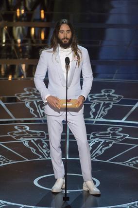 El oscarizado actor y músico Jared Leto durante la gala.  Foto: EFE