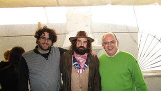 Diego Calvo, el pintor Pepe Baena y Javier Sánchez Rojas.