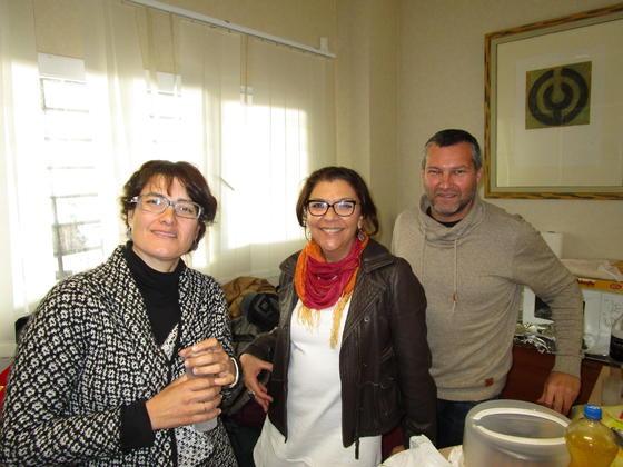 Marisa Selma, Carmen Romero y David Calañas.