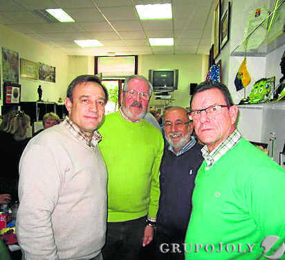 Alfonso Rodríguez, Silverio de la Yeza, Pepe Macías y Fernando Caballero.