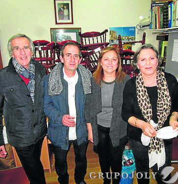 Pepe Ruiz, Pepe Rueda, María del Carmen Real y Oliva Navarro.