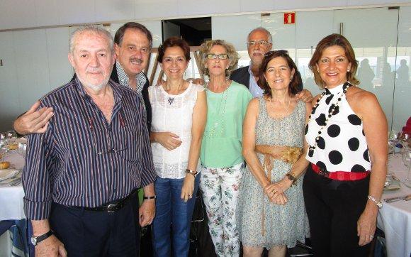 Antonio Ramos, Joaquín Gamero, Inmaculada Failde, Juan Antonio Micó, Pilar Camón, Ana Cervera y Charo Lacave.  Foto: Ignacio Casas de Ciria