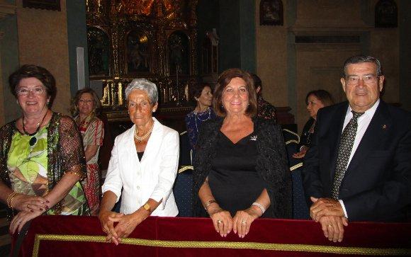 María del Carmen de la Cruz, Nena Pascual, Pepita Muñoz y José Luis Ortega durante la celebración del capítulo  Foto: Ignacio Casas de Ciria
