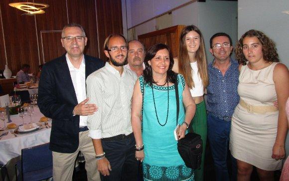 Isidoro Montiel, Alberto y Cecilio Gómez, Conchi Vargas, María Gutiérrez y  Miguel Ángel y Paola Romero.  Foto: Ignacio Casas de Ciria