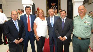 Aurelio Romero, José Manuel Vera, Lola Palomino, Javier de Torre, Alfonso Candón y Jesús Núñez.  Foto: Ignacio Casas de Ciria