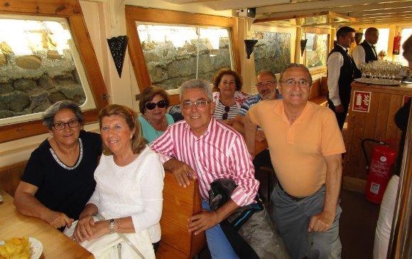 María Luisa Luque, Mariano Navarro, Cipriano Meléndez, Pepe Guzmán, María del Carmen Goñi, Natalia Rojas y Pepe Pereira.  Foto: Ignacio Casas de Ciria