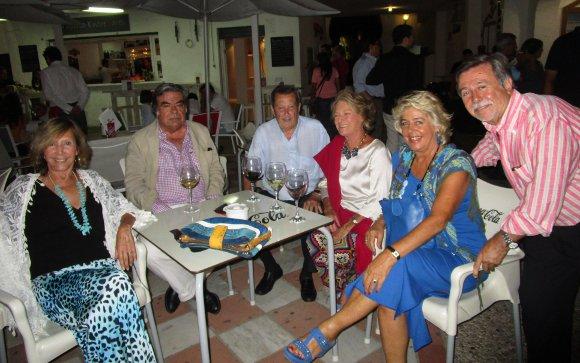 Concha Baras, Manolo Riquelme, Tano Pereyra, Petra Llanza, María Pilar Gracia y Antonio Ramírez.  Foto: Ignacio Casas de Ciria